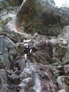 Rock Climbing Photo: Nicole heading up into Space