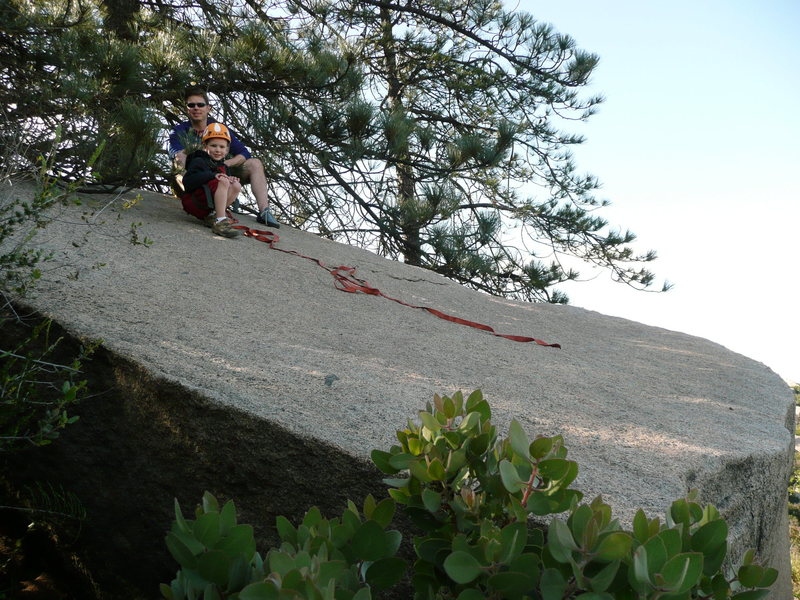 Rock Climbing Photo: On top of the Chopper.  View from the side away fr...