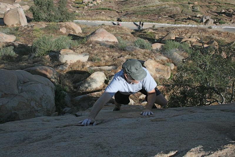 Rock Climbing Photo: Me on Joe Browns Helmet.   5-1-10