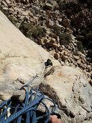Rock Climbing Photo: J approaching P2