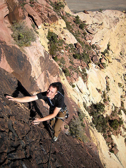Rock Climbing Photo: Jascha on P4