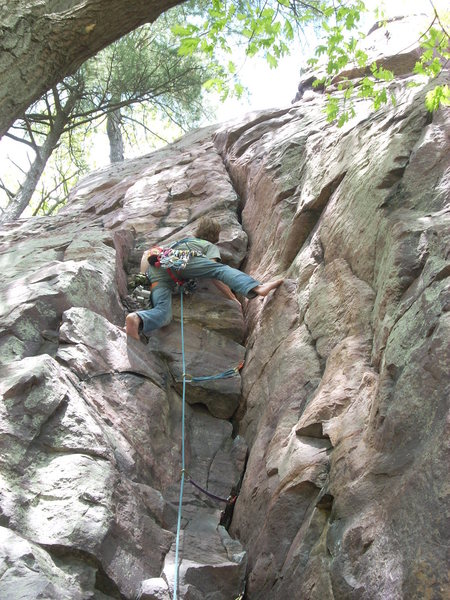 Rock Climbing Photo: Rhoads and his new personal challenge.