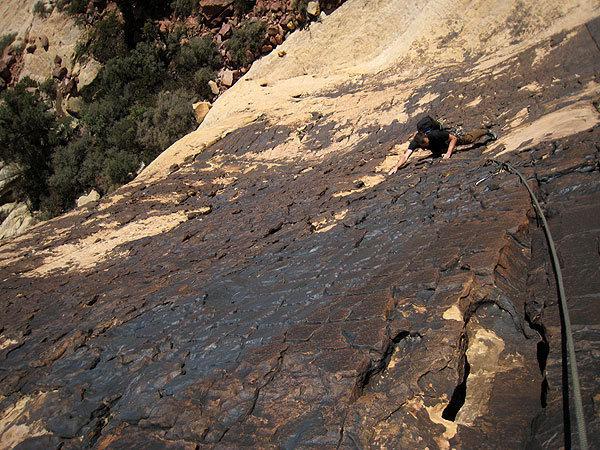 Rock Climbing Photo: Jascha on the first pitch