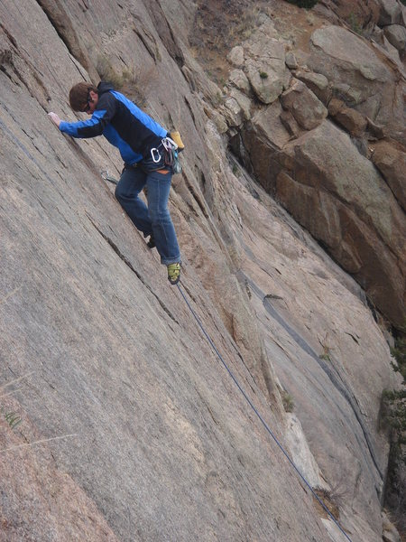 Chris on the upper section of Silver Left.