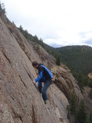 Rock Climbing Photo: The upper headwall of Tunnel Vision.