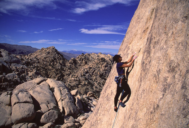 Rock Climbing Photo: Lisa Pritchett leading Chute to Kill