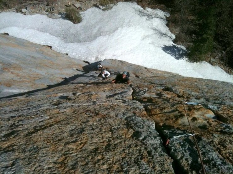 Rock Climbing Photo: Mustafa following and Yaman leading the awesome 2n...