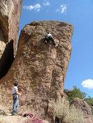 Rock Climbing Photo: Rachel Leading septic Death.