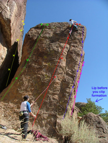 Rock Climbing Photo: This is the first formation you will come to at th...