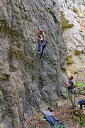 Rock Climbing Photo: Multiple Stab Wounds. Crux - short people beta. Ka...