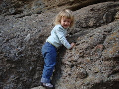 Rock Climbing Photo: Norah solo in Castlewood