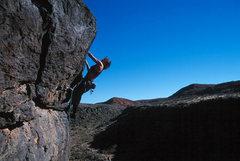 Rock Climbing Photo: Lisa Pritchett leading Gravitational Attraction