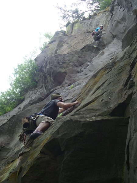 Dan climbing up the 1st pitch of Gandalf's Grip.