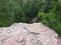 Rock Climbing Photo: Looking down the Second Flatironette to the start ...