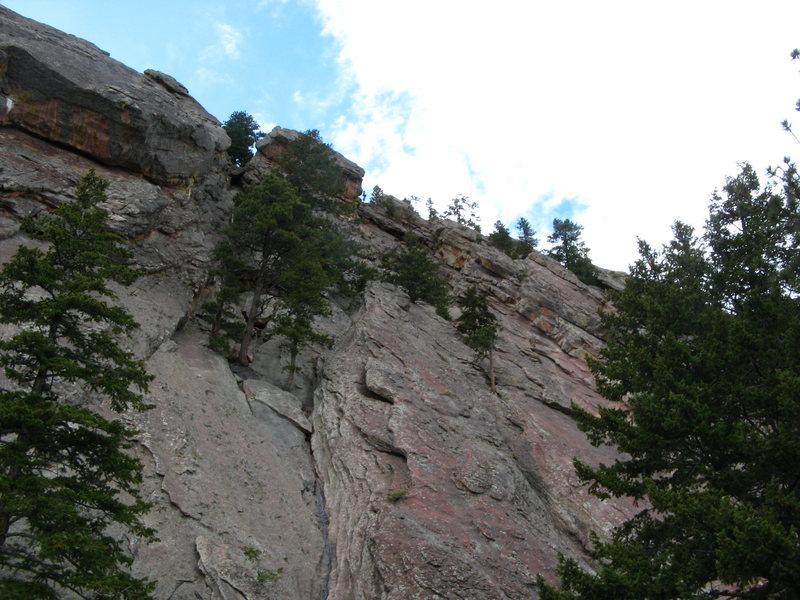 Rock Climbing Photo: Looking up Dodge Block.