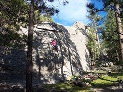 Rock Climbing Photo: Misha flying high