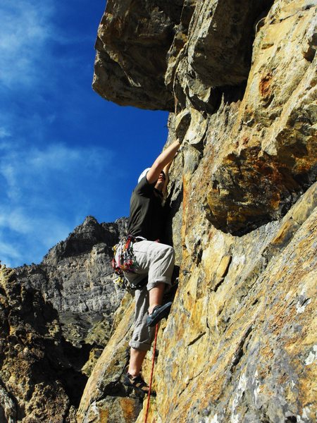 Erik climbing the ridge