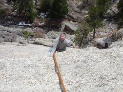 Rock Climbing Photo: Below the upper crux.