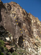 Rock Climbing Photo: annotated route (photo by Jascha)
