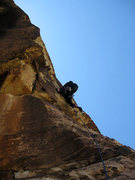 Rock Climbing Photo: passing through the small roof at the start of P2 ...
