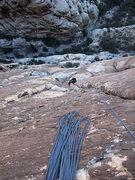 Rock Climbing Photo: Jascha on P4