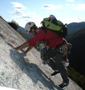 Rock Climbing Photo: California Flake in Avalanche Pass, Adirondacks, N...