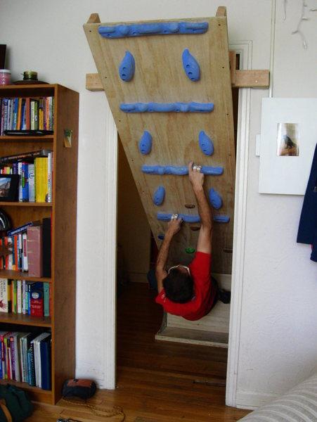 Rock Climbing Photo: Removable doorway woody