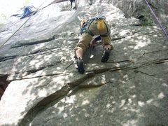 Rock Climbing Photo: donahue on the way up (lost horizon)