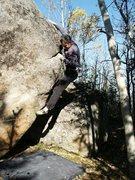 Rock Climbing Photo: Jorge Vesser trying Muktuk