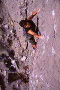 Rock Climbing Photo: Lisa Pritchett leading Coming Attractions