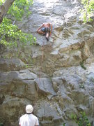 Rock Climbing Photo: Mark Collar on South of the Trout Farm