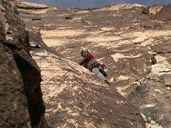 Rock Climbing Photo: Jeff Creamer on P2 of Frogland