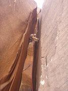 Rock Climbing Photo: Mark Collar enjoying a wide chimney pitch on Epine...