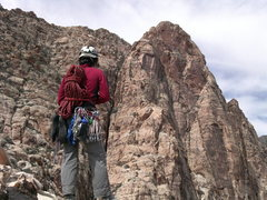 Rock Climbing Photo: Looking at the upper pitches of Epinephrine and th...