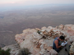 Rock Climbing Photo: Summit register and bivy site atop Epinephrine