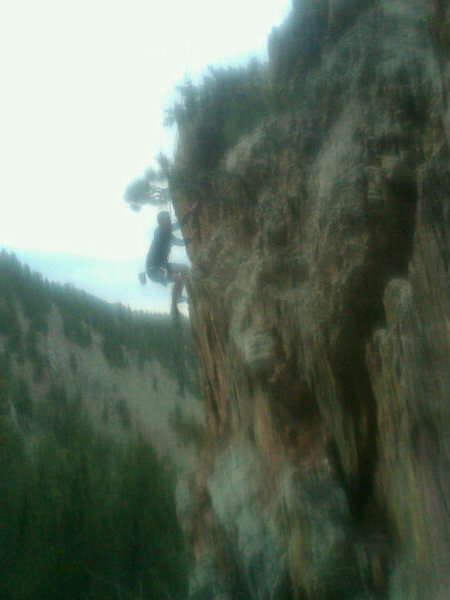 Mickey on the crux.