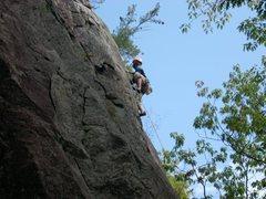 Rock Climbing Photo: donahue up high