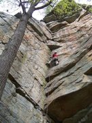 Rock Climbing Photo: Ant's line 5.9