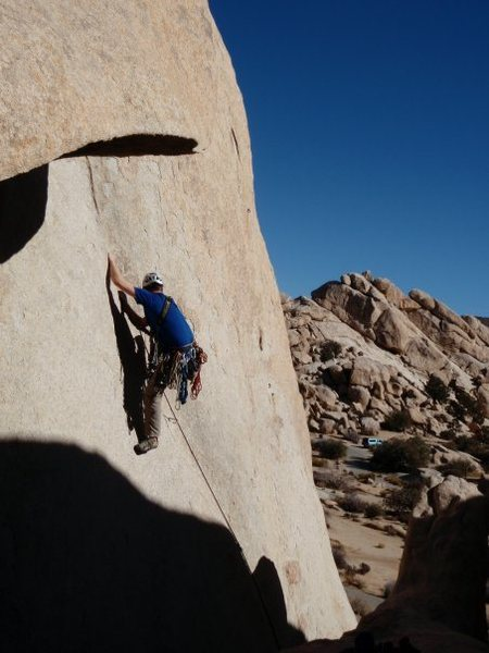 Rock Climbing Photo: Buissonier 5.7 in Hidden Valley Campground, Joshua...