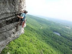 Rock Climbing Photo: Following Thin Slabs Direct