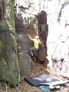 Rock Climbing Photo: The doc getting it done on AAA