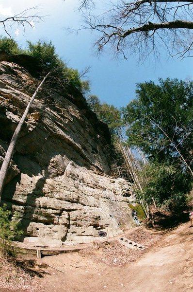 Rock Climbing Photo: Up on Rat Stew.