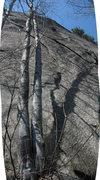 Rock Climbing Photo: Ginsu Flake -  stitched photo so it is foreshorten...