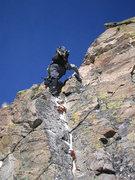 Rock Climbing Photo: Climbing out of the notch.