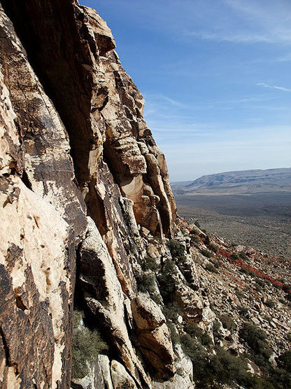 Rock Climbing Photo: looking back to the mouth of the canyon from the r...