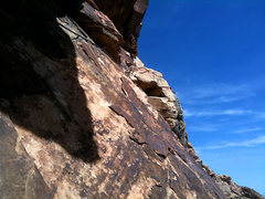 Rock Climbing Photo: rest of the roof traverse