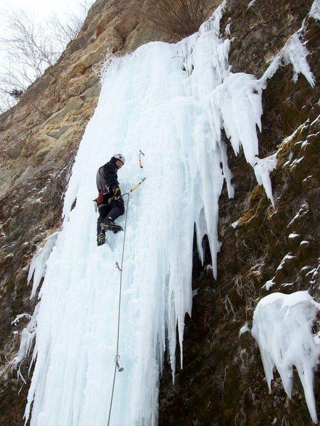 Rock Climbing Photo: Perusing the surroundings...Weaver FA'ing!