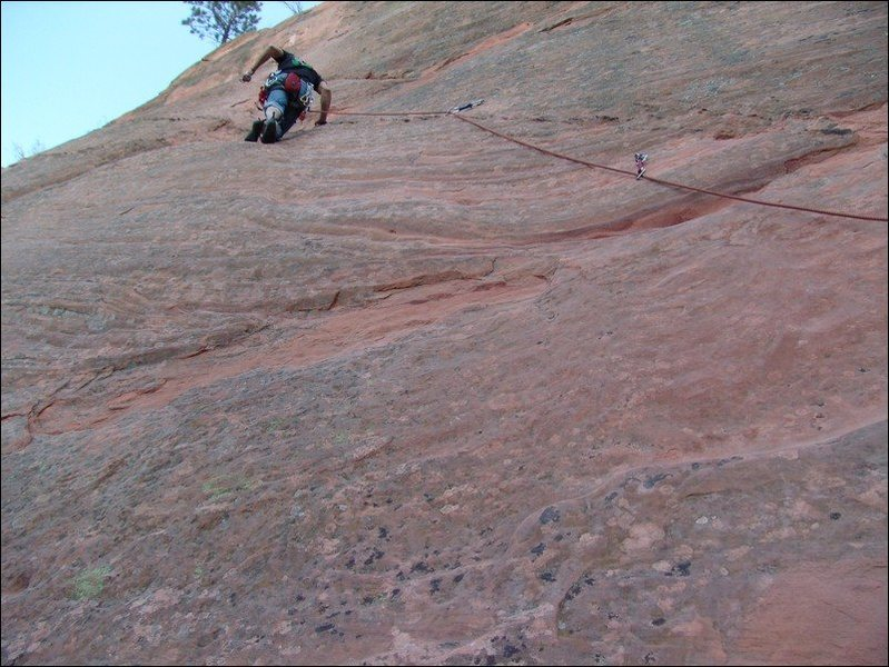 Rock Climbing Photo: About halfway up....