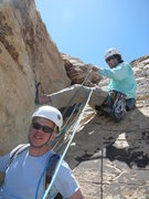 Rock Climbing Photo: Top of pitch 6 - slung block.