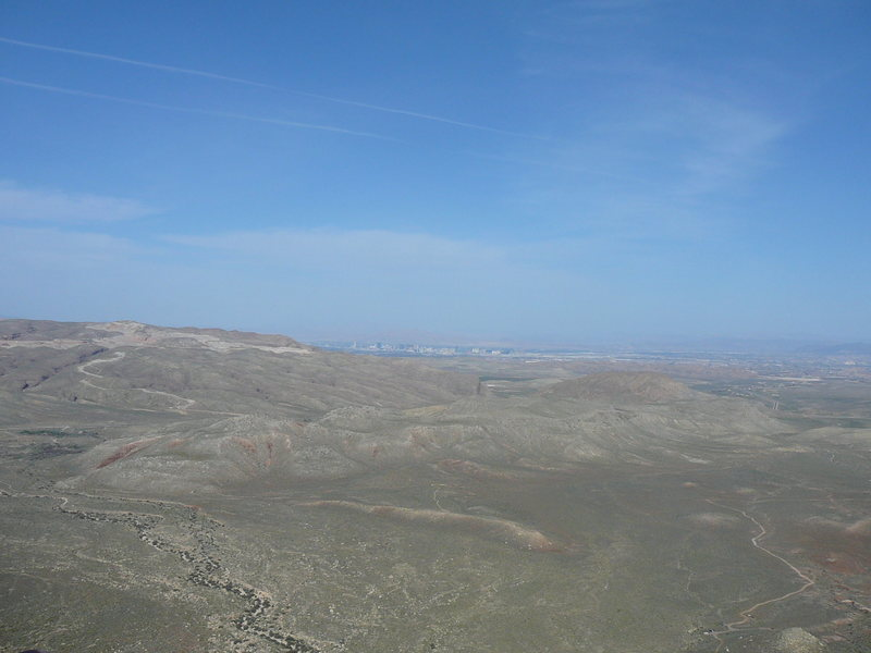 Rock Climbing Photo: On top of Frogland - best way to take in Vegas... ...
